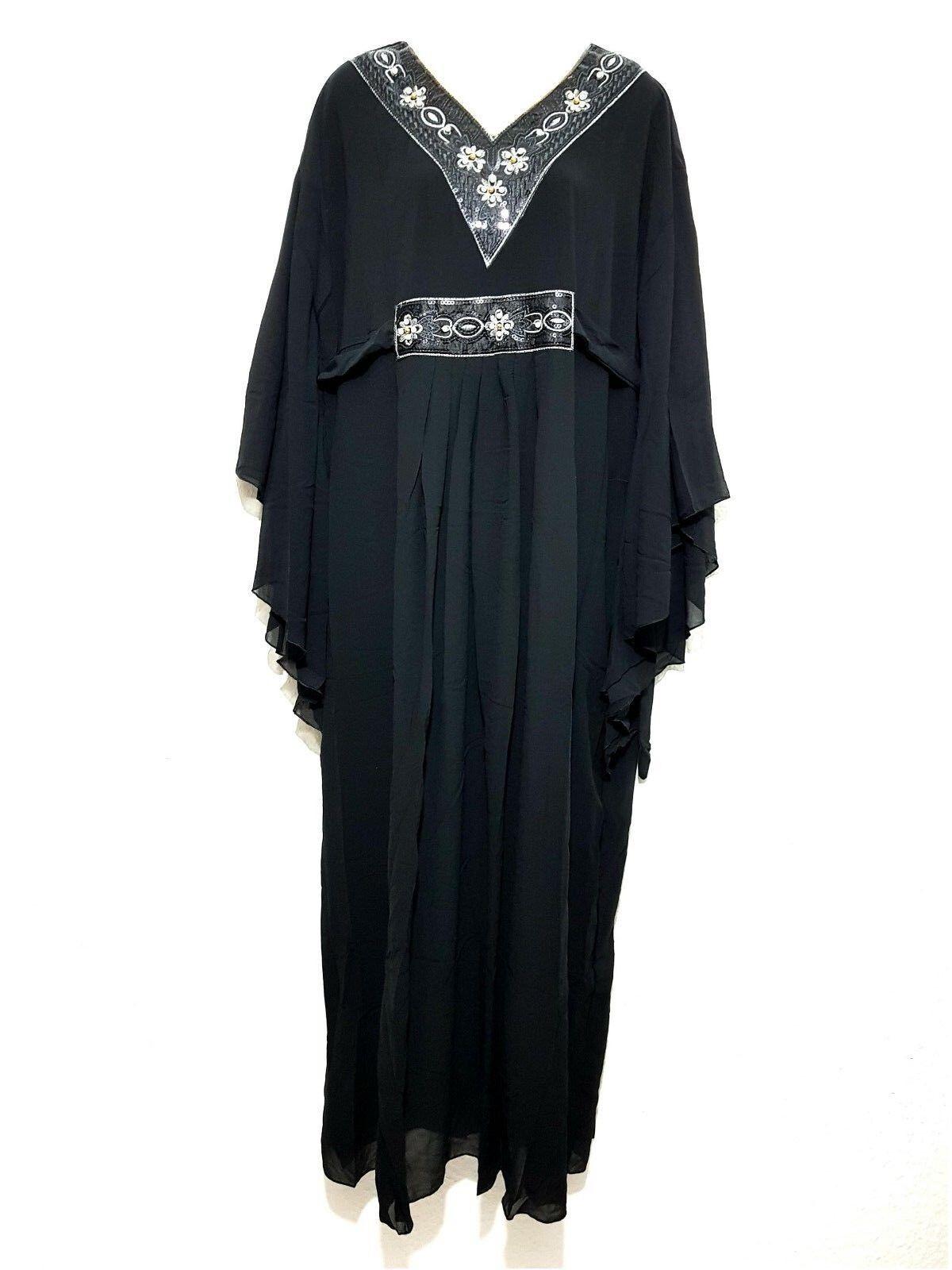 Abaya Robe Maxi Kaftan Jellabiya Farasha Robe de Soirée Papillons Look