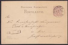 DR P 5 Postkarte GA mit Botenstempel, gel. mit K1 Berlin P.A.13 am 04.07.1876