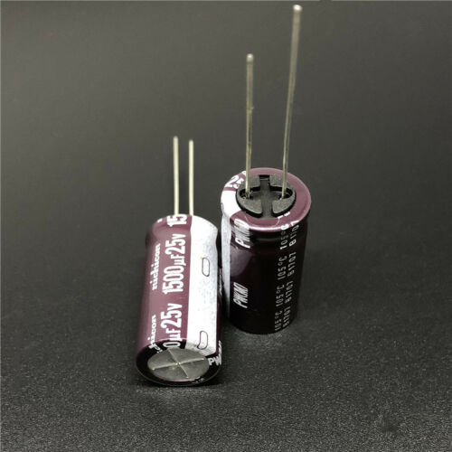 10//100pcs 1500uF 25V1500UF 12.5x25 Nichicon PW Low Impedance Long Life Capacitor