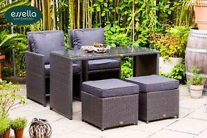 Essella Polyrattan Gartenmöbel Essgruppe Sitzgruppe Rattan Gartenset