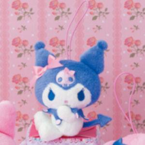 SANRIO-MY-MELODY-KUROMI-Stuffed-Plush-Doll-Keychain-Strap-4-3in-JAPAN-FREE-SHIP