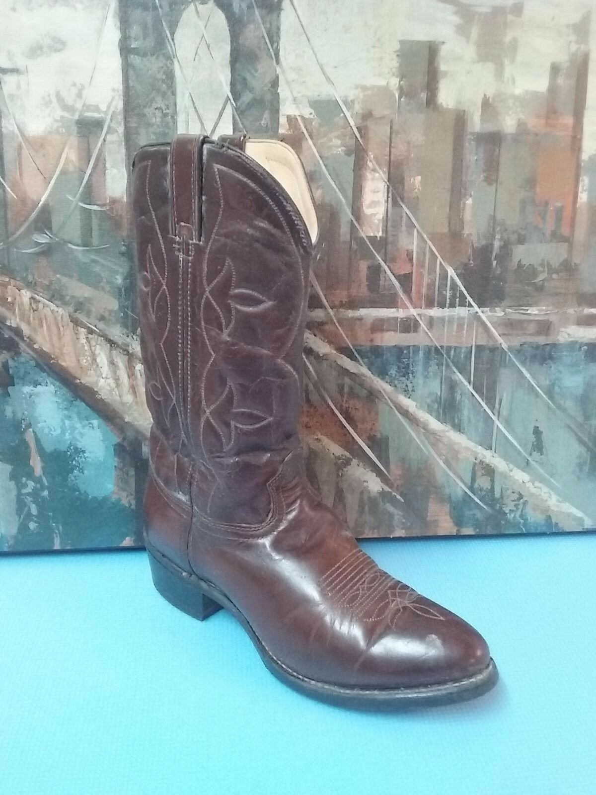 Durango 16754 Leather Cowboy Boots Mens 10D Western Brown Leather
