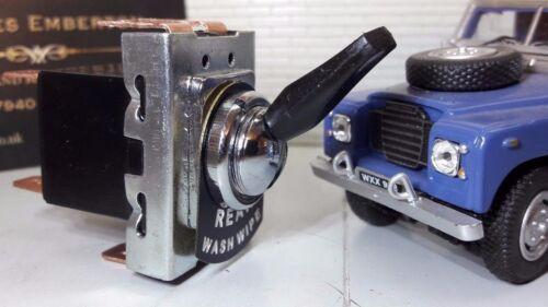Classico KIT Auto Interruttore di Tipo Lucas Posteriore Lavare Pulire Tergicristallo /& Metal Scheda etichetta