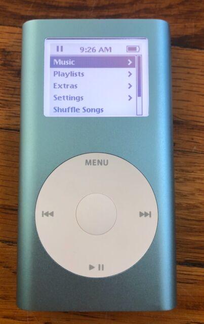 BLUE GREEN APPLE IPOD MINI 1ST GEN 4GB PINK SILVER w Clip