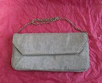 Monsoon Accessorize Silver Glitter Envelope Party Clutch Bag W/10.5 L/5
