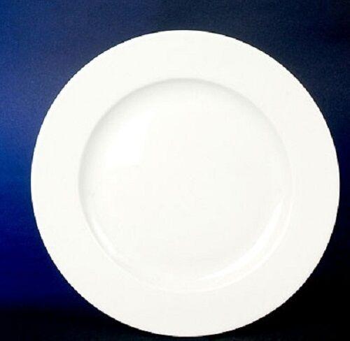 Kasva Weiss 6 Kuchenteller Dessert Teller flach 21cm für 6 Personen Neu Rund Wow