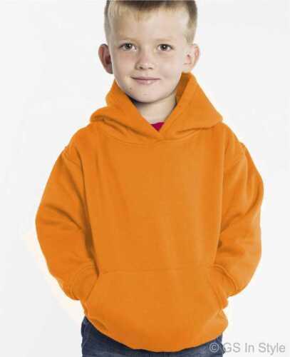 Kids Hooded Sweatshirt Children Plain Hoodie Hoody Boy Girl Toddler FREE TRACKED