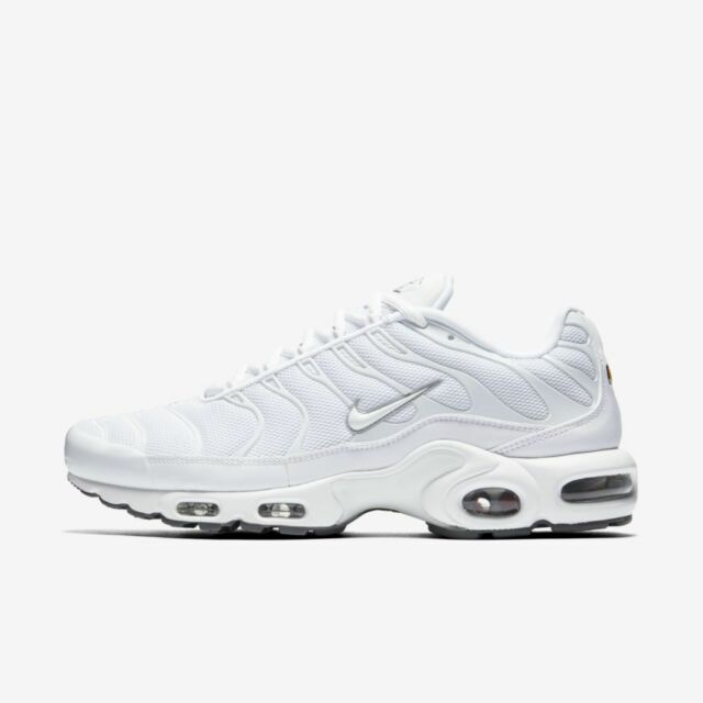 détaillant en ligne d5bd5 9b216 Nike Air Max Plus TN Tuned 1 Triple White Black Cool Grey Trainer  604133-139 10
