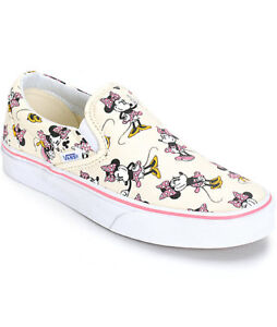 NEW VANS X Disney CLASSIC SLIP ON MINNIE MOUSE Print SHOES Womens  f34fb91a6