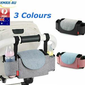 Baby-Pushchair-Organiser-Cup-Bottle-Holder-Mummy-Bag-Storage-Buggy-Stroller-Pram
