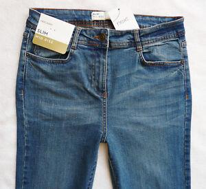 BNWT-NEXT-Ladies-Relaxed-skinny-slim-leg-mid-blue-mid-rise-stretch-jeans-R-L-XL