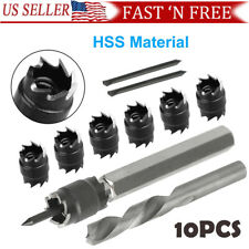 """9Pcs Weld Cutter Remover Drill Bits Double Sided 3//8/"""" Rotary Spot Cut Welds Kit"""