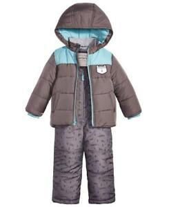 CARTER/'S® Boys 2T Dinosaur Heavyweight Jacket /& Snowsuit Set NWT