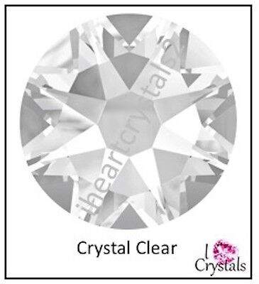 CRYSTAL CLEAR 16ss 4mm 144 pieces Swarovski Flatback Rhinestones 2088 Xirius