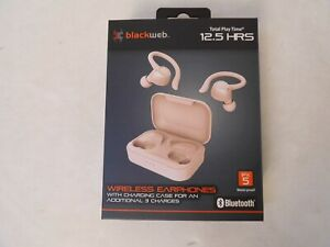 New Blackweb True Wireless Bluetooth Earbuds Rose Gold Charging Case Bwd19aah07 681131279543 Ebay
