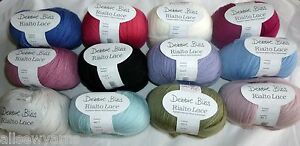 DEBBIE-BLISS-Rialto-Lace-x-50g-Choose-Colour-100-Extra-Fine-Merino-Wool