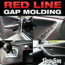 Edge Gap Red Line Interior Point Molding Accessory 5meter for VW Golf Jetta