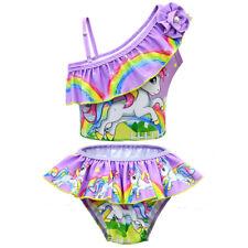 Children Girls Toddlers Unicorn Swimsuit Swimwear 2pc Set Bathing suit Bikini ZG