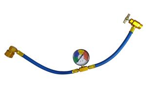 1X-1pc-Metal-R134a-Recharge-Measuring-Hose-Pressure-Gauge-Adapter-Car-Air-Con-2Y