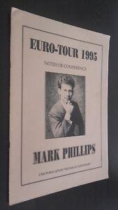 Euro-Tour 1995 Notas Conferencias Mark Phillips Magic Euro-Tour Buen Estado