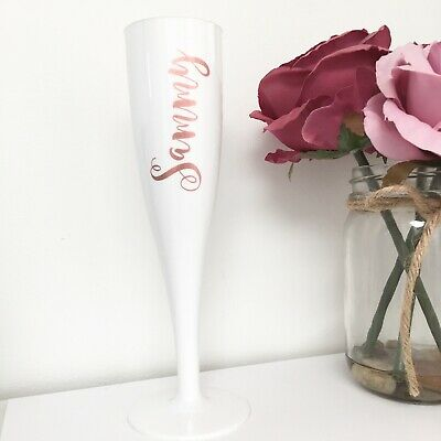 Personalised 6oz Crystal Champagne Flute Engraved Godmother Thank You Gift