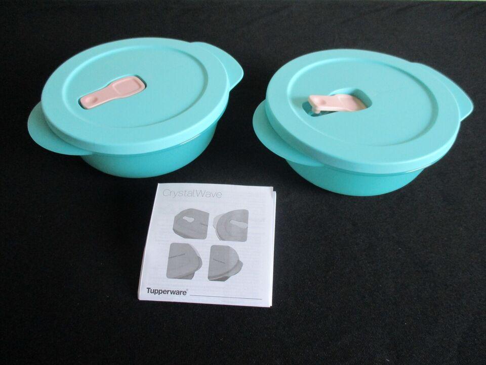 Plastik, Crystal Wave 6 dl (2), Tupperware