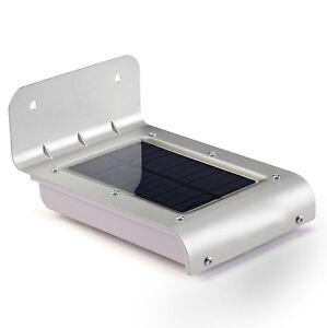 Lampada luce applique ad energia solare da esterno 16 led con pannello solare ebay - Lampada ad energia solare da esterno ...