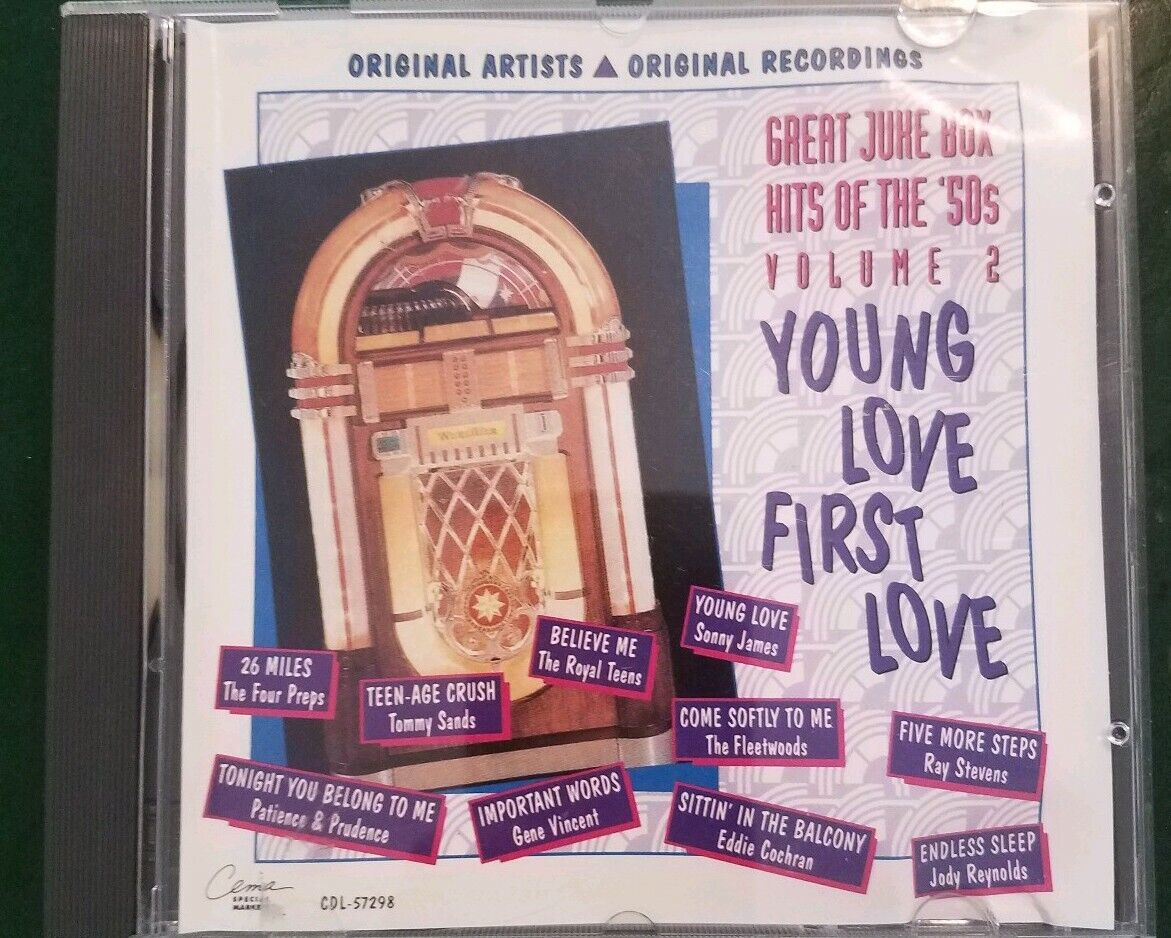 Great Jukebox Hits of the 50's, Vol  2: Young Love, First Love by Various  Artists (CD, Apr-1992, EMI-Capitol Special Markets)