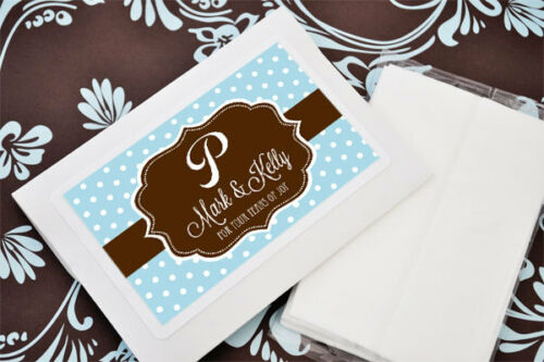 48 Tears of Joy Individual Personalized Tissue Packet Tissues Wedding Favors