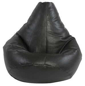 XXL-Highback-beanbag-filled-beanbags-bean-bag-gamer-gaming-chair-beanbag-Black