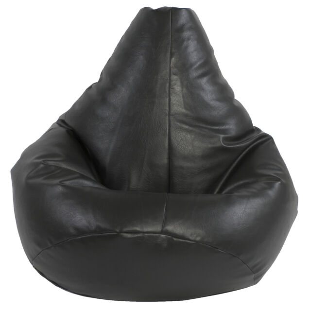 XXL Highback beanbag filled beanbags bean bag gamer gaming chair beanbag Black