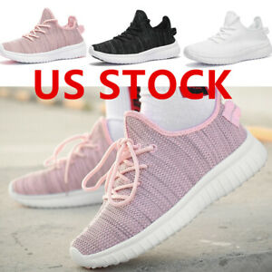 knit womens gym black/white/pink walking sneakers tennis