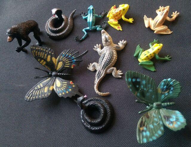 Rainforest jungle wild plastic animals crocodile frog snake Ape FREE POST D90