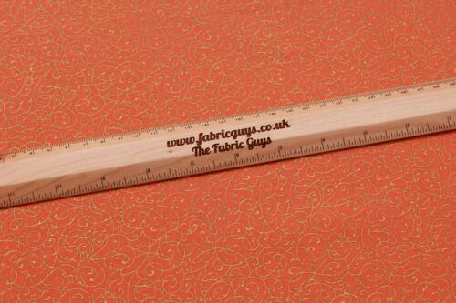 """44/"""" Gold Foil Swirl Vine William Morris 100/% Premium Quilting Cotton Fabric"""
