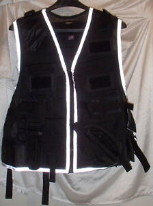 Tactical Right Hand Cross Draw Black Reflective Vest Headlites Mens ... 529b19f96be