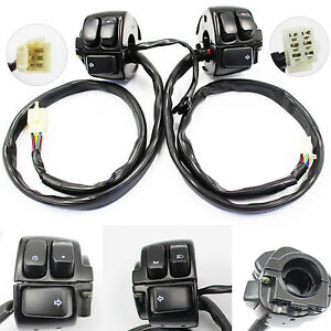 Black Switches and Wires Harness for Harley-Davidson Hand Controls