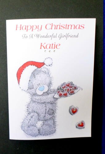 Handmade Personnalisé Carte de Noël Petite Amie Femme Fiancée