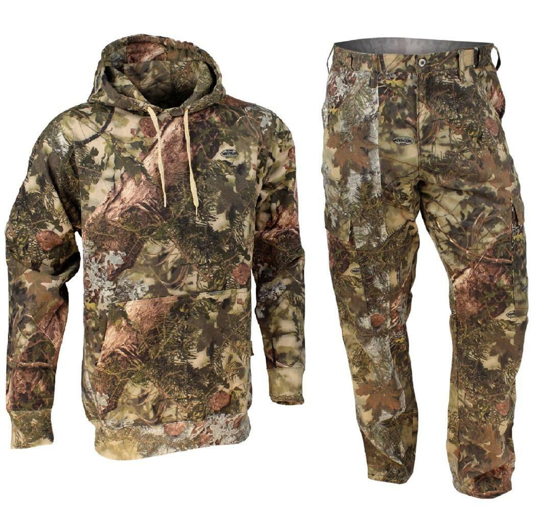 2 pc Kings Camo Pants & Hoodie Classic Cotton Mountain Shadow Bundle Lot