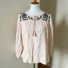 80ee300a582098 item 6 Joie Embroidered Peasant Top Sz S Small Lace Blouse Almond Caviar  NWT New -Joie Embroidered Peasant Top Sz S Small Lace Blouse Almond Caviar  NWT New