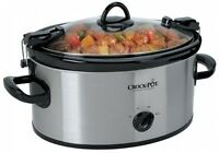 Crock Pot 6-quart Oval Manual Portable Slow Cooker Stews Chicken Oven Kitchen