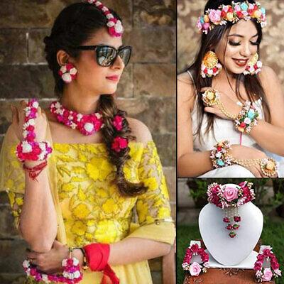 Gotta patti wedding occasion necklace set for bride