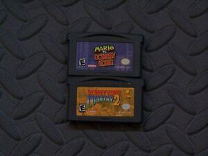Lot Nintendo Game Boy Advance GBA Games Mario VS DK + Donkey Kong Country 2