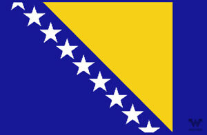 Flagge-Bosnien-Herzegowina-Aufkleber-8-5-x-5-5-cm-Fahne-Sticker-WHATABUS