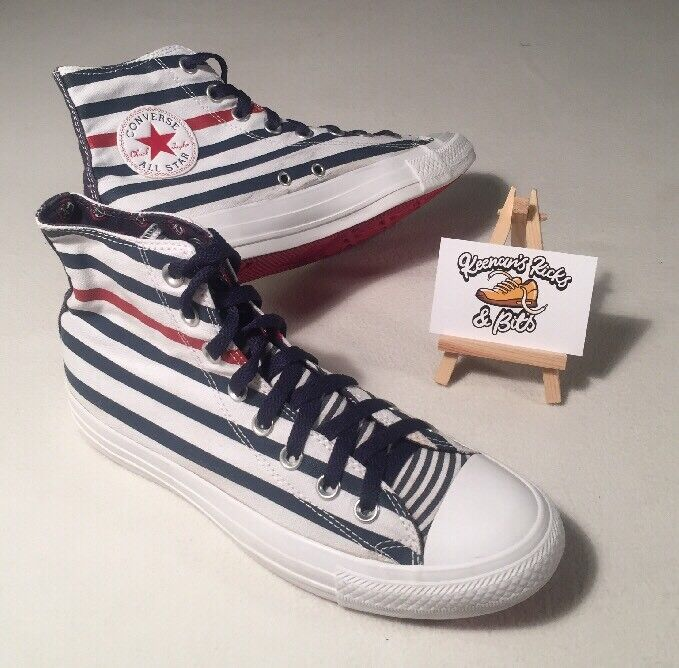 Converse LIMITED EDITION Bnchor Blue & White Hi Top Trainers UK 7 'VINTBGE SBIL'