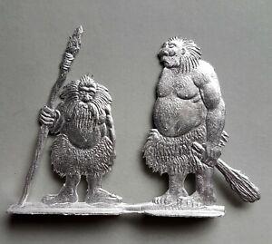 Zinnfigur Jäger und Sammler Gesamthöhe circa 60mm Flachfigur