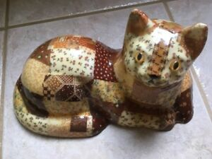Vintage-Lifesized-Patchwork-Cat-With-Clearcoat-Finish-Statue