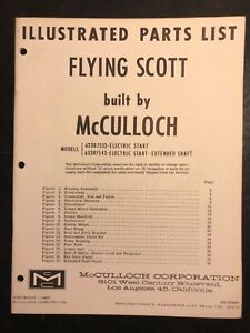 1963 Flying Scott 75hp Outboard Motor Parts Catalog Mcculloch Electric Start Ebay