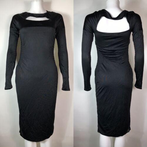Rare Vtg Gucci Black Cut Out Dress S - image 1