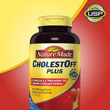 Nature Made CholestOff Plus 450 mg 200 Softgels Reducol Cholesterol NEW - NO TAX