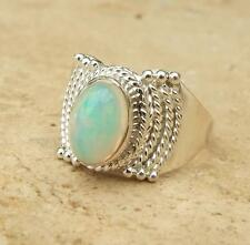 Ethiopian Welo Opal Ethnic Design 925 Sterling Silver Ring Size P 1/2-US 8